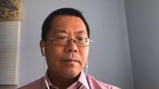大陸維權律師滕彪稱,擔心香港政治維權律師將來的人身安全。(本台視像訪問截圖)