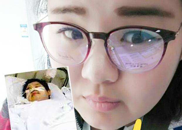 臨汾少女玲玲,十年前在學校注射了問題疫苗,多年來受到病痛折磨,包括經常痙攣、頭痛、及嚴重內分泌失調導致肥胖。(易文龍提供)