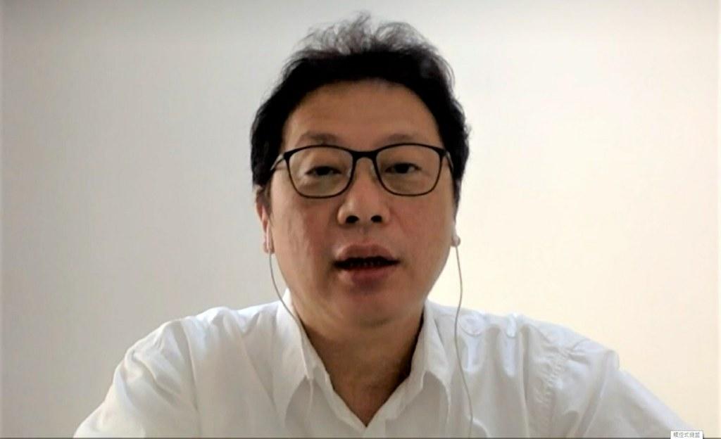 台灣中亞學會秘書長侍建宇稱,要服裝品牌主動調查來源相當難。(視訊訪問截圖)