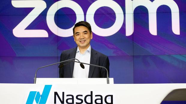 2019年4月18日,由美籍華人袁征創辦的視頻會議軟件公司Zoom在納斯達克正式掛牌上市。(美聯社)