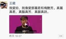 王藏轉發關於何韻詩的視頻到朋友圈導致其被警方帶走。(王麗提供 / 拍攝日期不詳)