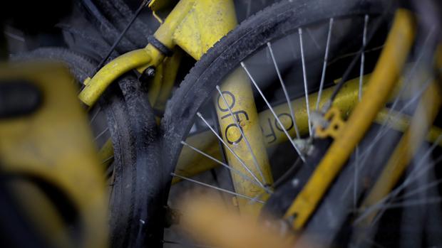 中國街頭偶然還有破舊的ofo單車。(路透社資料圖片)