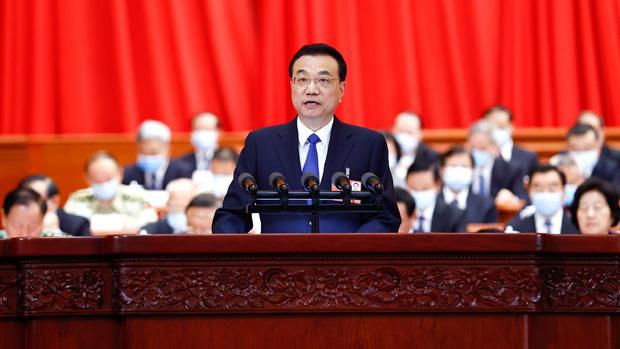 2020年5月22日,李克強在人大會議中,罕有不提今年GDP增長目標。(中國政府網圖片)