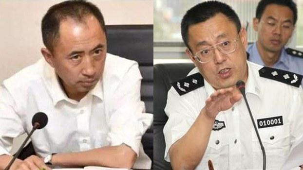 原昆明市副市長、公安局長、雲南省司法廳副廳長的趙立功(右)落馬,直接引爆了和其共用情婦的刀文兵(左)的危機。(資料圖片)