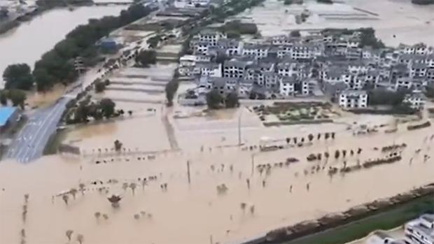 南方各地洪水肆虐逾月,官媒大多沉默不語。(知情人提供 / 2020年7月)