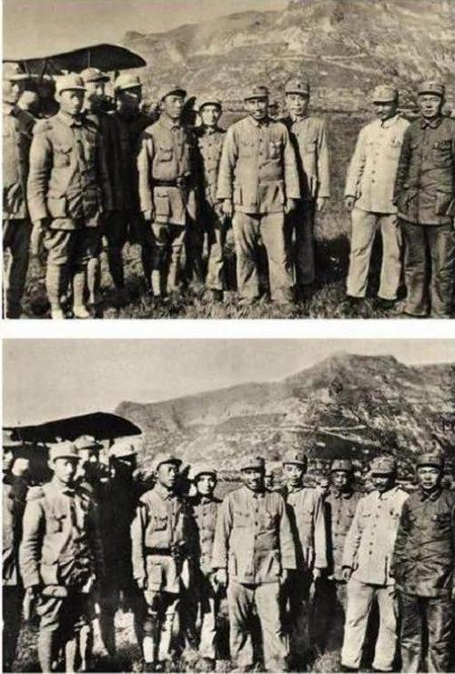彭德懷被打倒後,在官方照片上「被消失」。(網絡圖片)