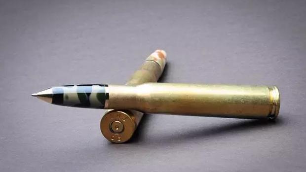 毛澤東說過:「筆桿子、槍桿子,革命就靠這兩桿子」。(資料圖片)
