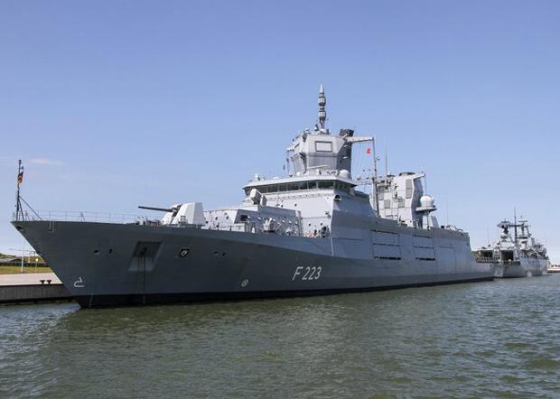 德國國防部在推特上展示的世界最先進的護衛艦之一F223「北威州-威斯特法倫號」。(德國國防部官方推特圖片)