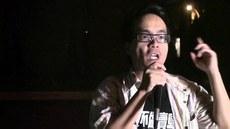 一直積極參與社會活動的台灣國立成功大學政治學系教授梁文韜質疑朱立倫,未有下放資源予洪秀柱及立委,間接達致'換柱'的效果。(網民提供、拍攝日期不詳)