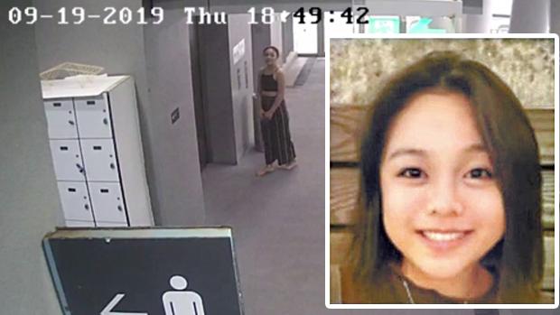 陳彥霖死亡前在學校出沒的閉路電視片段截圖。(香港知專視頻截圖)