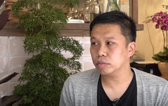 深水埗區議員李庭豐認為大南街暫時未有大規模「士紳化」情況。(鄧穎韜 攝)