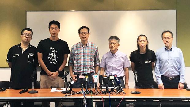 2019年10月3日,有市民发起网上联署并开记招,批评警滥用保护令,认为其违反联合国《儿童权利公约》。(张超雄议员办事处提供)