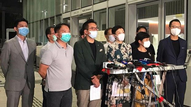 民主派會議召集人陳淑莊指,這是由中央度身訂造,漠視市民仍對23條立法存擔心,沒有汲取「逃犯條例」的教訓。(張展豪 攝)