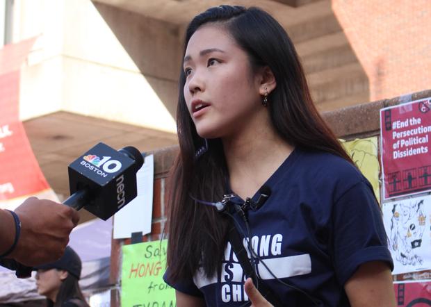 在美港人組織「We The Hongkongers」發起人許穎婷認為,要繼續擴大民間聲音。(許穎婷提供)