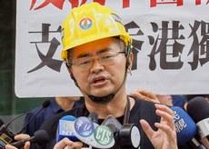 2019年8月14日,中国民运人士郭宝胜︰香港已经腥风血雨,面临六四大屠杀重演。(锺广政 摄)
