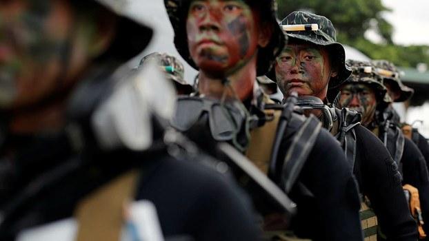 台灣海軍陸戰隊(路透社資料圖片)