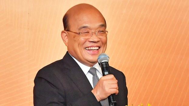 2020年9月14日,台灣行政院長蘇貞昌:希望對港人做到真正的幫助,但偷渡個案不能透露。(台灣行政院提供)
