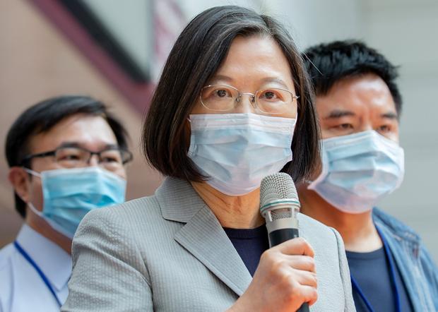 2020年9月4日,台灣總統蔡英文:以中國製造不合格口罩混充台灣口罩出售,是不可原諒的事情。(台灣總統府提供)