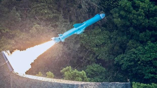 台灣中山科學院連續兩天試射彈道「無限高」飛彈。(國防部提供 / 2020年7月15日)