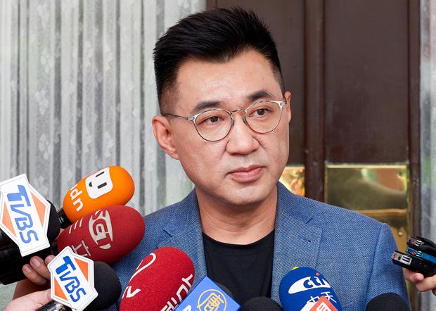 2020年9月25日,國民黨主席江啟臣:北京當局應收歛、節制,不要讓台海情勢繼續升高。(鍾廣政 攝)
