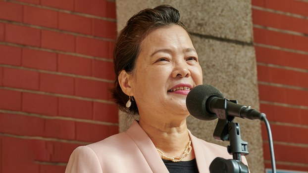 2020年11月16日,經濟部長王美花:台灣要加入RCEP必須承認「九二共識」和「一國兩制」,民眾不會接受。(鍾廣政 攝)