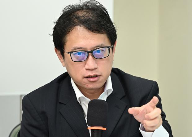 2020年10月16日,島國前進智庫國家論述組召集人宋承恩,中華民國已經不存在,用這個名字和美國建交沒有意義。(鍾廣政 攝)