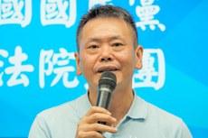 2020年10月6日,國民黨立法院黨團總召集人林為洲:美國應宣示協防台灣,讓台灣安心,讓對岸有所顧忌。(鍾廣政 攝)