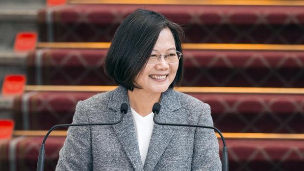 2020年1月15日,台湾总统蔡英文︰《反渗透法》并不会影响两岸正常交流。(锺广政 摄)
