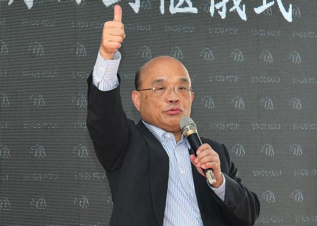 2020年11月20日,行政院長蘇貞昌:樂見美國環保署長惠勒訪問台灣。(行政院提供)