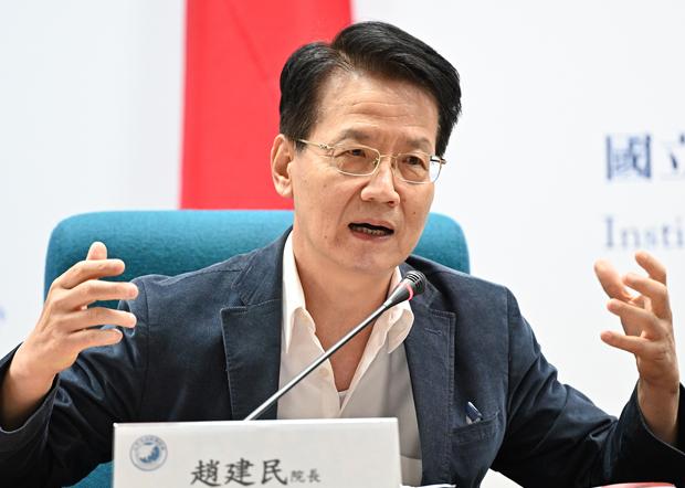2020年10月30日,文化大學社會科學院院長趙建民:習近平政權未如台灣國安單位認為處於岌岌可危的狀態。(鍾廣政 攝)