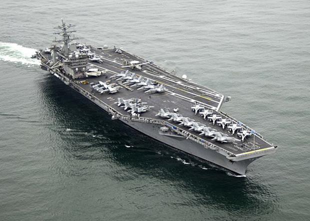 美海軍尼米茲號航空母艦正回航波斯灣備戰。(資料圖片)