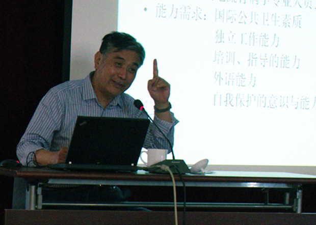 中國疾控中心首席流行病學專家曾光,將新一輪武漢肺炎病毒源頭甩鍋海外進口冷凍食品鏈。(中國疾控中心官網圖片)