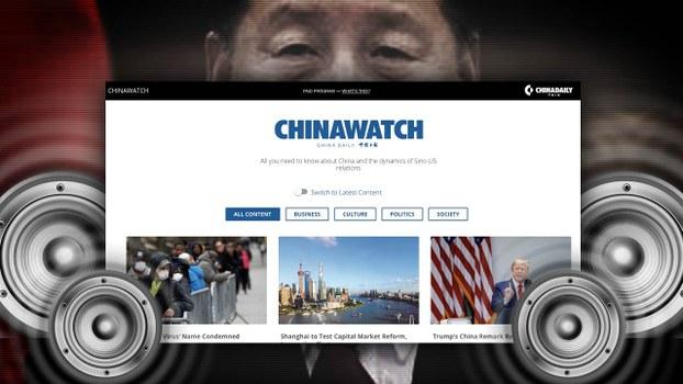 中共喉舌《中國日報》英文版近年向美國及其他國家的主流媒體投放廣告,以內頁或軟文方式發表親北京,或直接轉載《中國日報》內容。早前該報與美國《華爾街日報》合作「中國觀察」,大量發表讚揚中國經濟發展、地緣政治相關的親北京的評論及文章。 (華爾街日報《中國觀察》網站截圖)