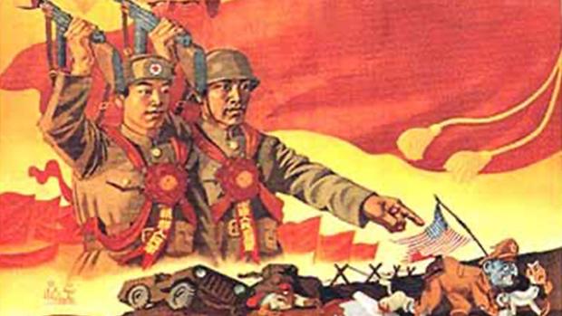 中美關係陷入低潮,中共官方炒作「抗美援朝」。(網絡圖片)