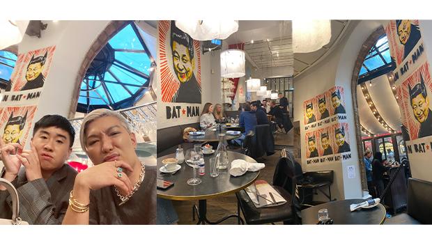 2020年10月10日,菲律賓時尚網紅「Bryanboy」在社交媒體推特上上傳在瑞典首都斯德哥爾摩的「裡克餐廳」用餐時,發現餐廳掛滿「蝙蝠人習近平」海報,他聲稱自己感到「種族歧視」並向餐廳提出投訴。 (Bryanboy推特圖片)