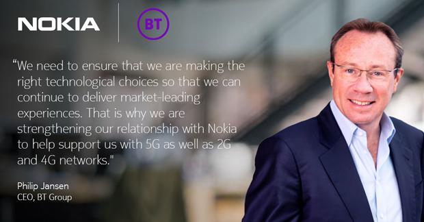 英國電信集團首席執行官菲力浦•詹森(Philip Jansen)表示,與諾基亞合作是正確的技術選擇。(諾基亞推特官方帳號圖片)