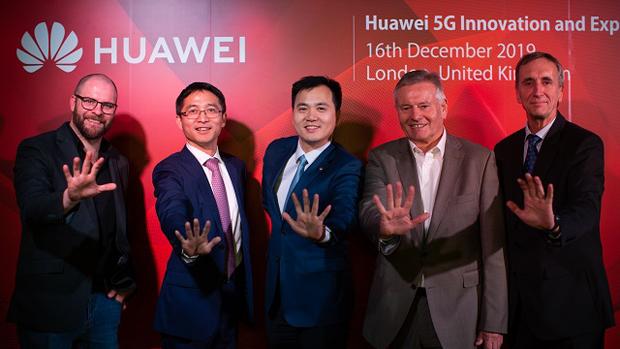 2019年12月,華為在倫敦揭幕5G創新和體驗中心,雄心壯志佔領英國5G網建市場,今天卻被取而代之。(華為官網圖片)