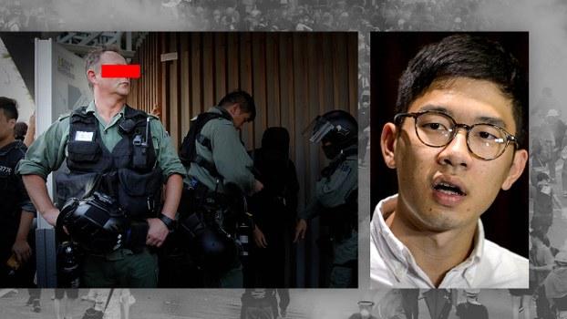 羅冠聰擬在英國向多名英籍港警官提私人檢控。(AFP/Reuters 資料圖片)