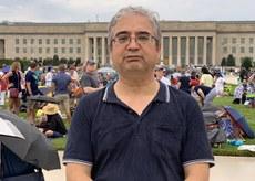 美国维吾尔协会主席伊利夏提表示美国对在新疆镇压穆斯林的官员实施签证限制是对中共独裁政权的又一打击,对正在打压香港民众民主自由诉求的香港官员、港警是一种威慑。(伊利夏提提供 / 2019年7月)