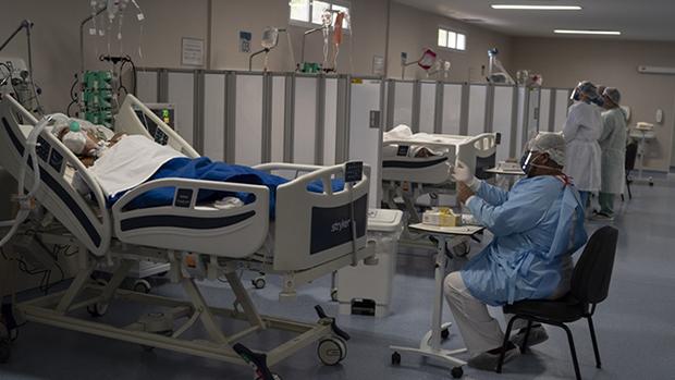 新冠疫情肆虐南美,巴西超越俄羅斯全球第二嚴重國家。(美聯社 / 2020年5月21日)
