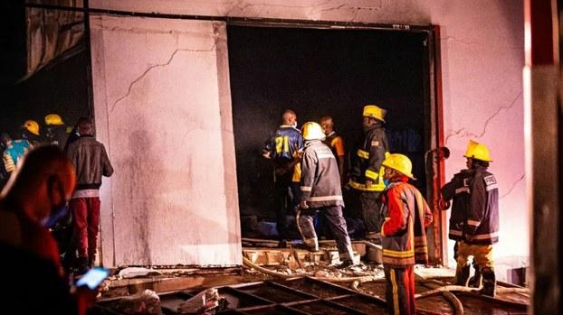 2020年5月24日晚上,一名南通籍受害者的遺體在被焚毀的倉庫內被發現。(旅贊商人求助貼)
